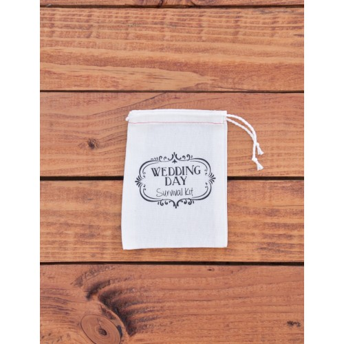 Cloth Drawstring Bag - Wedding Day Survival Kit  (Set of 10) - $8.00