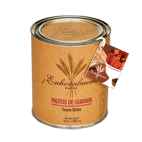 Enhorabuena Tin Can 10 oz (Guava Sticks) $22.95