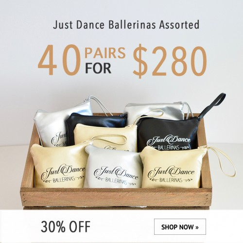 Just Dance Ballerinas - 40 pairs assorted package $280.00