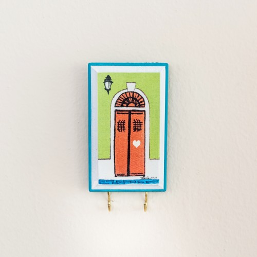 Key Holder -Puertas de San Juan, Green Wall - $10.50