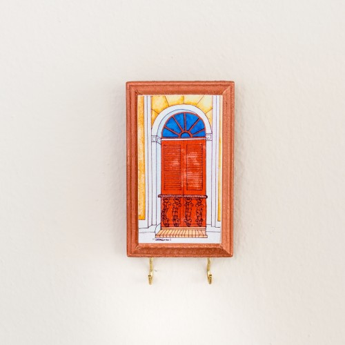 Key Holder -Puertas de San Juan, Red Door - $10.50