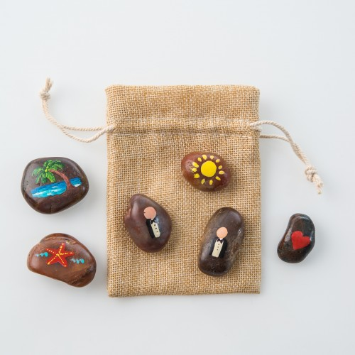 Our Love Story Stones - Beach  Same-Sex Marriage - Mr & Mr - $18.00