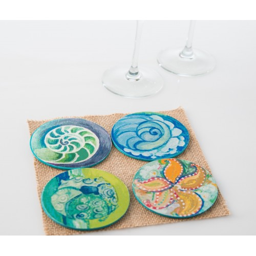 Coasters - Honeymoon Shells - $12.99