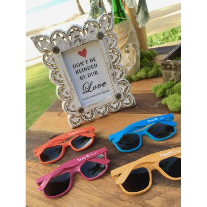 TEAM BRIDE Sunglasses - FUSHIA - $6.99