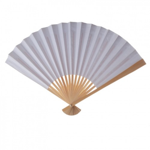 Paper Fan White (Set of 10) - $16.00