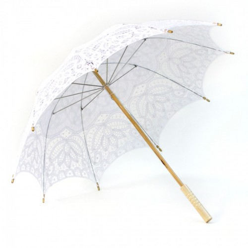 "Victorian Lace Parasol Umbrella - White  26 "" L x 29"" D - $59.00"