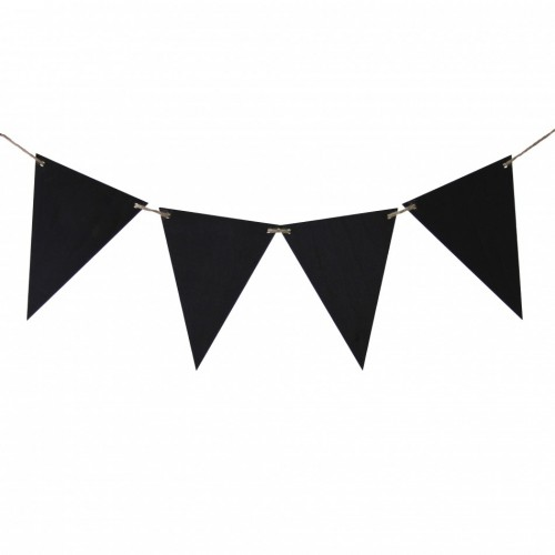 Chalkboard Banner Sign Pennants - (1 Set of 12 double sided Triangles) - $18.50